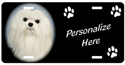 Maltese #2  Personalized  Automobile Pet License  Plate