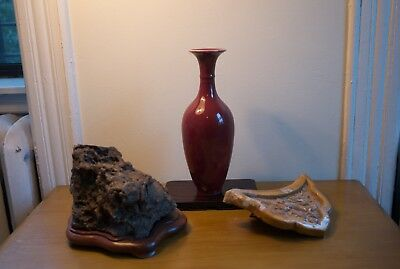 LARGE Chinese Porcelain Red Glaze Flambe Langyao Ox Blood Vase Presidential Gift