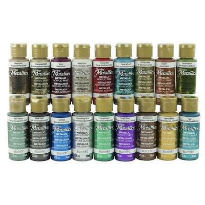 DecoArt Americana Dazzling Metallics Paint Sampler 18pcs - Fan Favorites DASK370