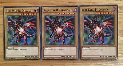3 X Ldk2-Enj01 Red-Eyes B. Dragon 1St Edition Mint