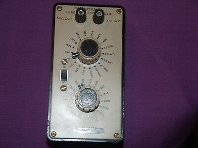 Heathkit IN-37 Resistance Substitution Box, works great, VINTAGE REALLY NICE CON