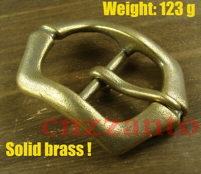 "Heavy duty Solid Brass Classical Tongue Pin Hippie Belt Buckle 1 1/2"" Z313"