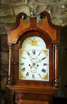 Victorian Oak & Mahogany Antique Longcase Grandfather Clock C1850
