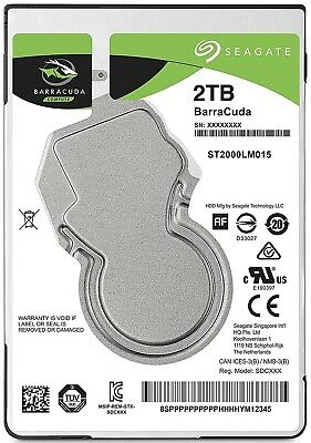 2TB Seagate Barracuda Sata 6GB/s 128MB Cache 2.5-Inch 7mm Internal Hard Drive