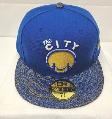 86393331 Golden State Warriors Men's New Era 59FIFTY 7 1/2 Fitted Cap Hat Fresh Fit
