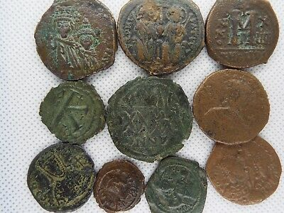 59-1 MIXED LOT OF BYZANTINE  RARE ANCIENT COINS 10 pcs