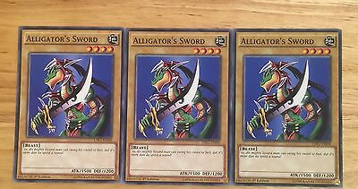 3 X Ldk2-Enj08 Alligator's Sword 1St Ed Mint Playset