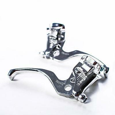 Pair of brake lever 2 fingers silver DIA-COMPE Bike