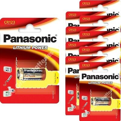 10 x Panasonic CR123A 3V Lithium Photo Battery DL CR17345 in Box