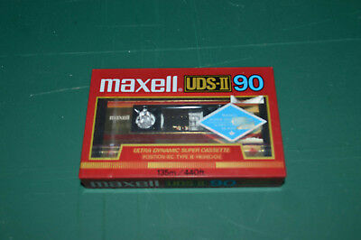 Maxell Cassette UDS-II 90 90 Minute High Bias CrO2  C90 New Made in Japan