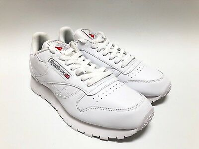 REEBOK CLASSIC LEATHER WHITE GREY 9771 RUNNING SHOES Men's Size 9