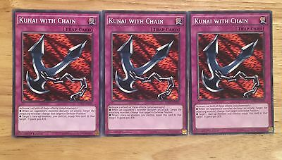 3 X Ldk2-Enj36 Kunai With Chain 1St Ed Mint Playset