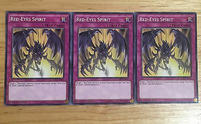 3 X Ldk2-Enj35 Red-Eyes Spirit 1St Ed Mint Playset