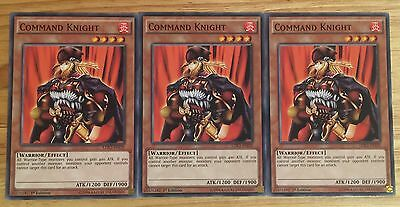 3 X Ldk2-Enj20 Command Knight 1St Ed Mint Playset
