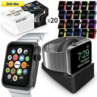 New Apple Watch Case Cover Iwatch 42 Mm Protective Shell Bumper Face Plates Pack