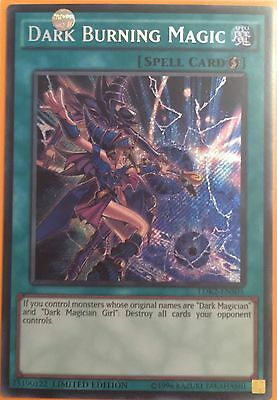 Ldk2-Ens05 Dark Burning Attack Secret Rare Limited Edition Mint Yugioh Card