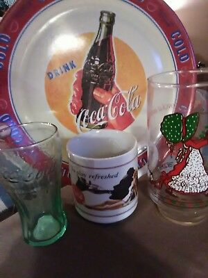 coka cola dish lot rare and vintage