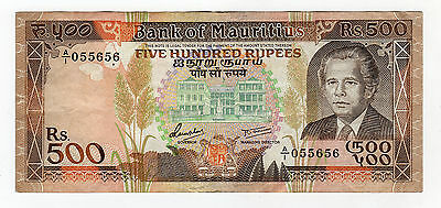 Mauritius 500 Rupees ND 1988 Pick 40 VF Circulated Banknote