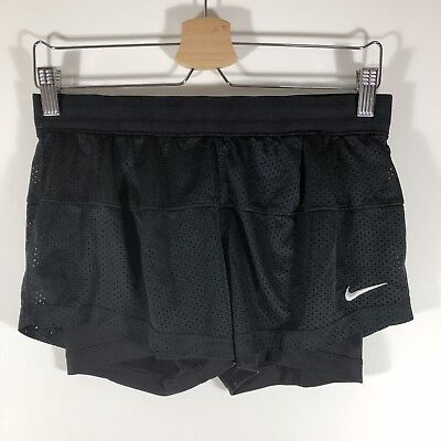 Nike Dri Fit Double Up Lined Shorts Just Do It Black Women's Small S