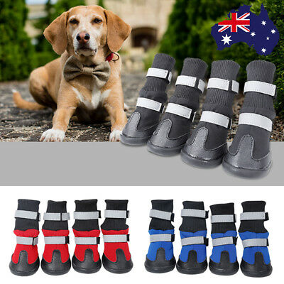 4Pcs Winter Dog Anti-Slip Snow Boots Warm Puppy Cat Booties Waterproof Pet Shoes