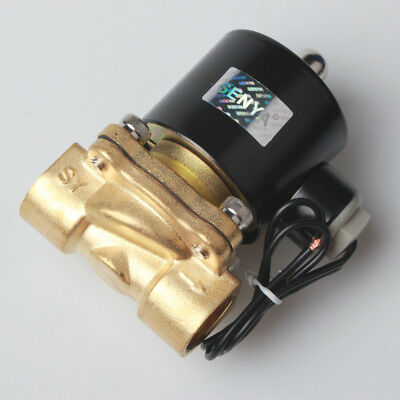 """Hot -NA 1/2"""" Brass Electric Solenoid Valve 110V AC Water Air Normally Closed N/C"""