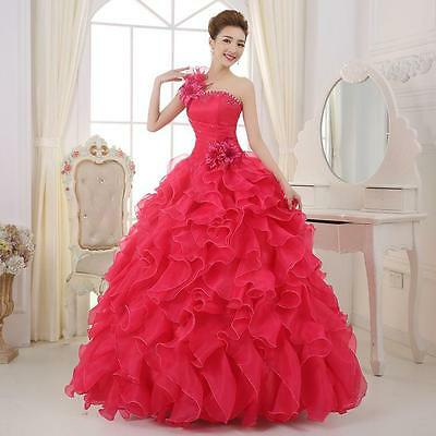 Dress Formal Prom Party Ball Dresses Bridal Wedding Gown Bridal Party Outwear SZ