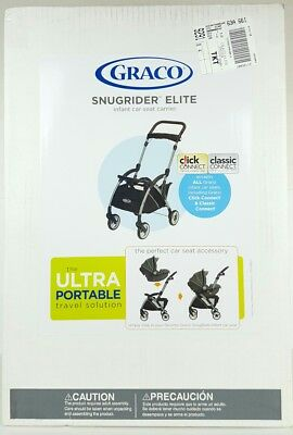 Graco SnugRider Elite Infant Car Seat Frame Stroller, Black New Fast Shipping