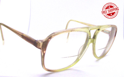 1f9eb59fef VINTAGE BLUE RIBBON Marchon Eyeglass Frames Grey Fade 145 Light Tan ...