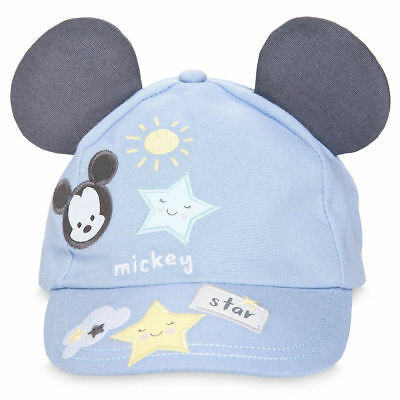 DISNEY MICKEY MOUSE SWIM HAT BABY BASEBALL CAP-STYLE 3-D EARS 6-12 ... 8d7ee288942