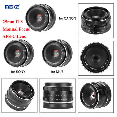 Meike 25mm f/1.8 Large Aperture Manual APS-C Lens For Canon EF Mirrorless Camera