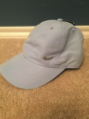 e245ac2bc5f Nike Youth Metal Swoosh Cap Hat Light Blue Heritage 86 OSFM 405043-450 NWT