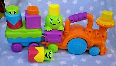 FISHER PRICE Peek A Boo Stack N Surprise TODDLER PUSH TRAIN with sound / MUSIC