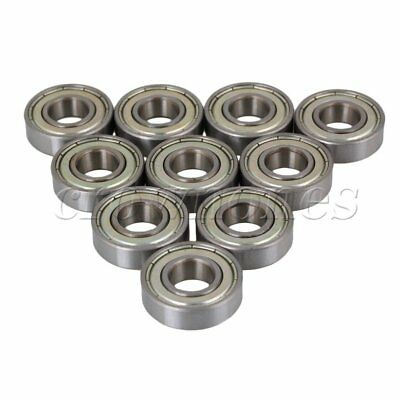 10PCS 12x28x8mm Silver Steel Deep Groove Sealed Shielded Ball Bearing 6001ZZ