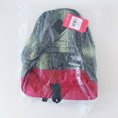 00bf1b4b9 SUPREME THE NORTH Face Snakeskin Lightweight Day Pack Green New Ss18 ...