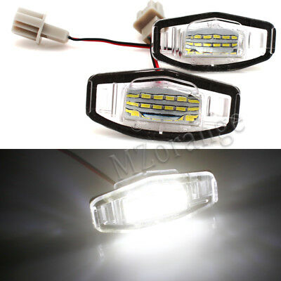 2x LED Number License Plate Light Lamp For Honda Civic Accord Acura Pilot TL TSX