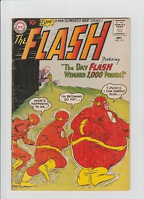 "The Flash #115 (Sep 1960, DC) VG (4.0) "" The Thousand Pound Flash"" !!!!!!!!!!"