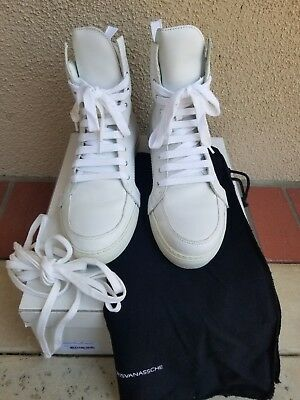 715e71ff36 Kris Van Assche Zip Back White Leather High Top Sneakers Shoes 41 8 Kva  700