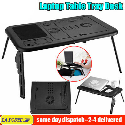 Portable Pliant Ordinateur portable Bureau Réglable Ordinateur Table Stand Tray