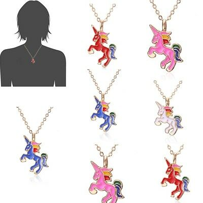 Cute Women Girls Horse Necklace Pendant Gold Clavicle Chain Chokers Jewelry Gift