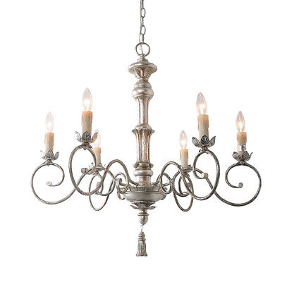 6-Light Pendant Light Traditional Chandelier Lighting Candle Chandeliers