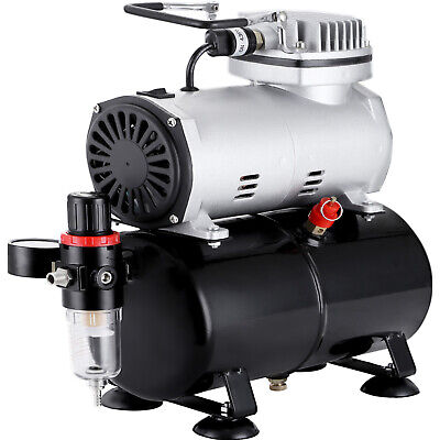1/5HP Airbrush Air Compressor With 3L Air Tank Tattoos Stencils Nail Graphic