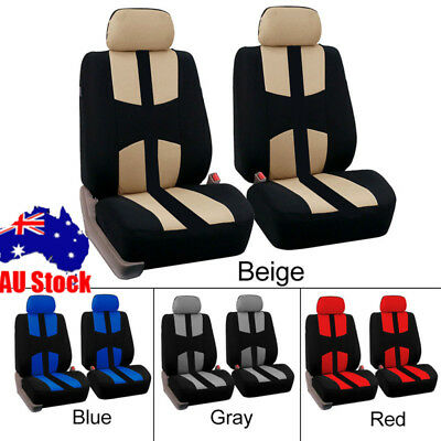 Universal Car Seat Covers 4pcs /Set Front&Rear Seat Back Head Rest Protector