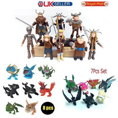 UK 8pcs How To Train Your Dragon Figure Hiccup Stoick Astrid Toy Collection Gift