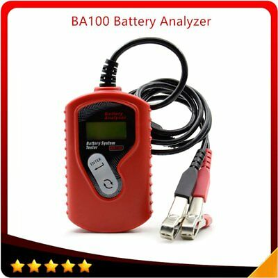 12V Car Battery Tester for Flooded, GEL Original BA100 Volt Battery Analyzer BU