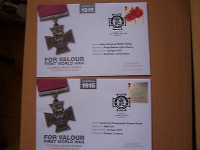 Great Britain ,2 Different Remembrance Covers,first World War.vc's.
