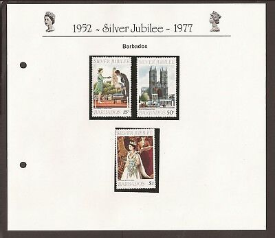 Barbados 1977. Scott 452-453 (MNH) Silver Jubilee full set. cathedral