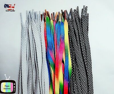 FLAT-Athletic 27-36-47-54-Inch-Sneaker-SHOELACES-Shoe-Lace-Strings-1Pair-2Pairs