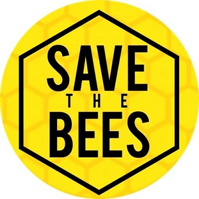 """""""save The Bees"""" Badge Eco Green Honey Insect Bee-Keeping Greenpeace"""