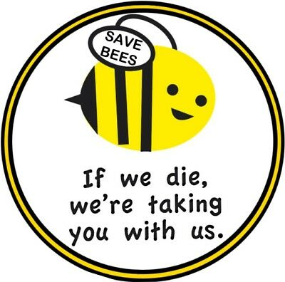 Save The Bees Badge Eco Green Honey Insect Bee-Keeping Greenpeace
