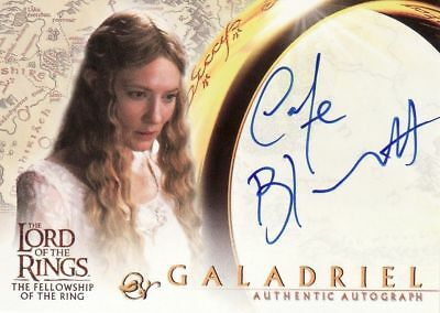 Lord Of The Rings: Fellowship Of The Ring trading cards Cate Blanchett Autograph
